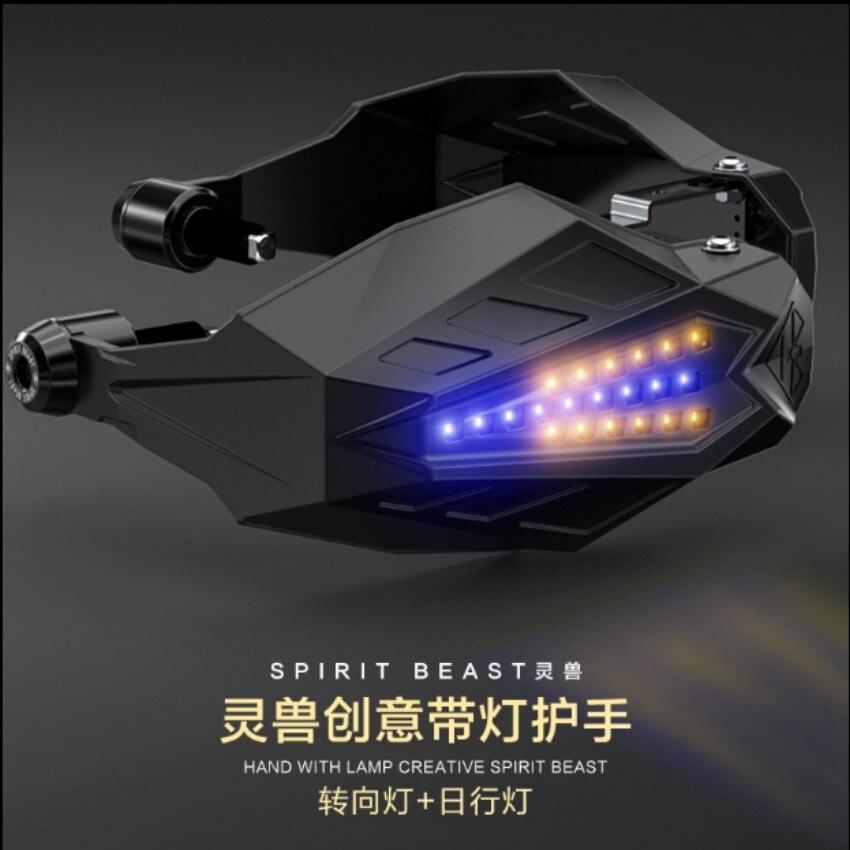 Spirit Beast motorcycle handlebar modified turning Daytime light + holder protect cool styling 2pcs/lot цена 2017
