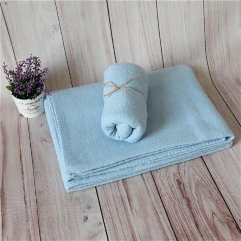 Bébé tricot couverture toile de fond couche tissu nouveau-né stretch tricot Jersey wrap bébé photographie accessoires nouveau-né swaddle couverture