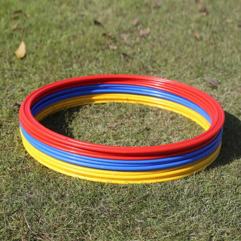 12 Pcs Set 40cm Soccer Speed Agility Rings ABS Material Sensitive Football Equipment Training Pace Lap Football Training