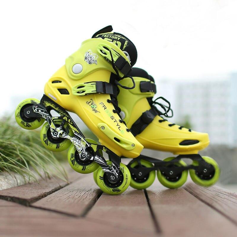 Free Shipping Inline Roller Skates FS-M1 PU Wheel ABEC-7 Bearing