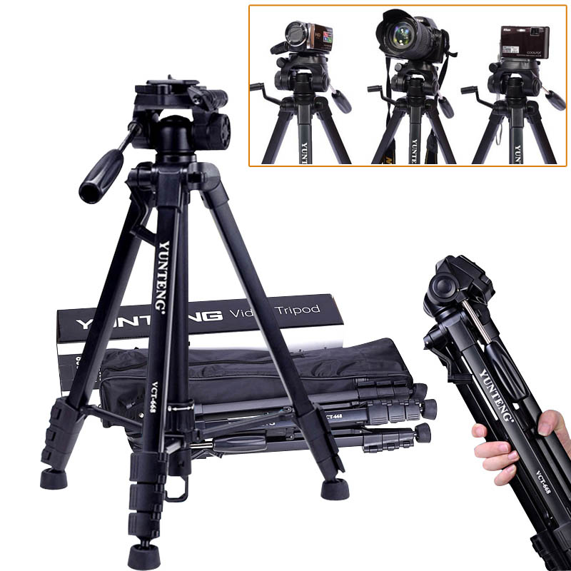 VCT 668 Yunteng New Professional Flexible Tripod for SLR Digital Camera with Ball Head Carrying Bag