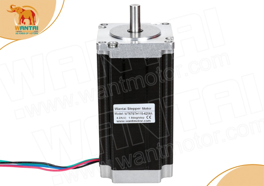 DE&EU FREE! 1PC Wantai Nema23 Stepper Motor WT57STH115-<font><b>4204A</b></font> 425oz-in 4.2A Medical Automation Imaging Printing Miling image