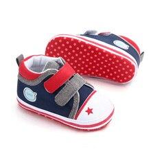 Повседневная обувь для маленьких мальчиков с нескользящей мягкой подошвой в стиле пэчворк, парусиновые детские кроссовки