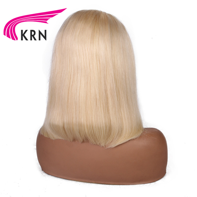 KRN #613 Short Bob Wig Straight 13X6 Lace Front Human Hair Wigs With Pre Plucked With Baby Hair Remy hair Lace Wig HD lace-in Human Hair Lace Wigs from Hair Extensions & Wigs    3