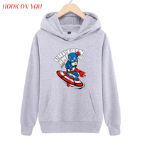 2017 Nieuwe Collectie Marvel Comics De Avengers Superheld Trui Hoodie Spider Superman Iron Man Hulk Print Fleece Sweatshirt