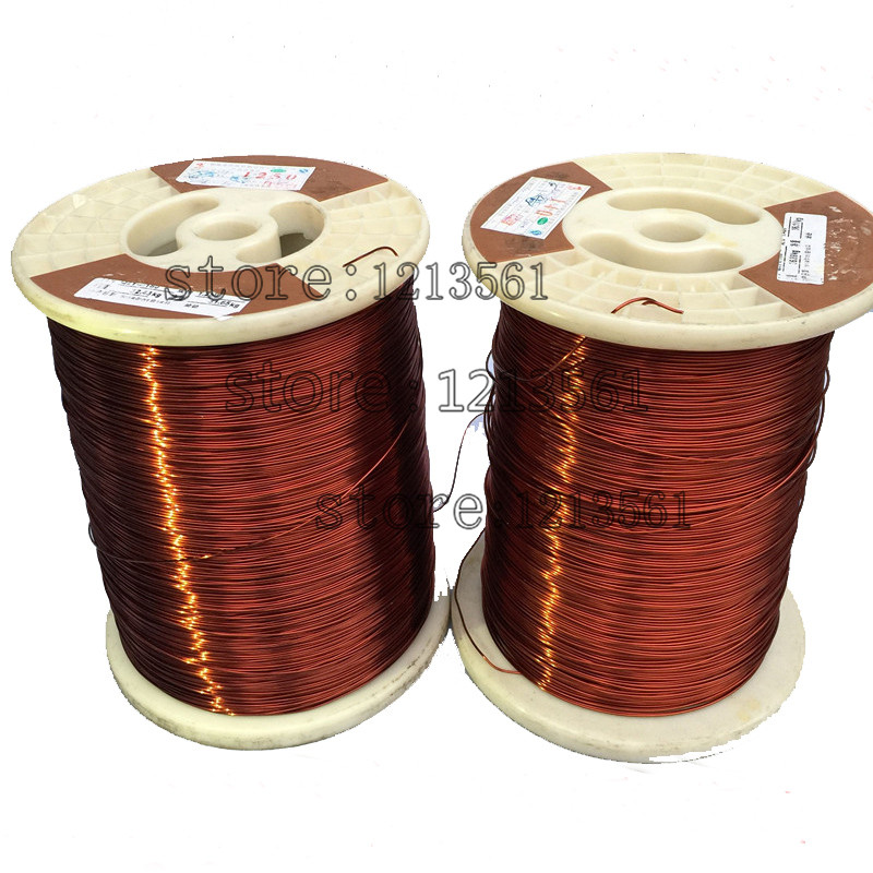 0.9/1.0/1.1/1.3MM QZYL 2 220 high temperature polyester enamelled round copper enameled wire 220 degrees Celsius /magnet wire-in Wires & Cables from Lights & Lighting    1