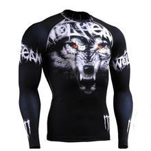 Для мужчин вторая кожа Фитнес Бодибилдинг компрессионные колготки быстросохнущие сверхлегкие ММА тренировки бег топы рубашки