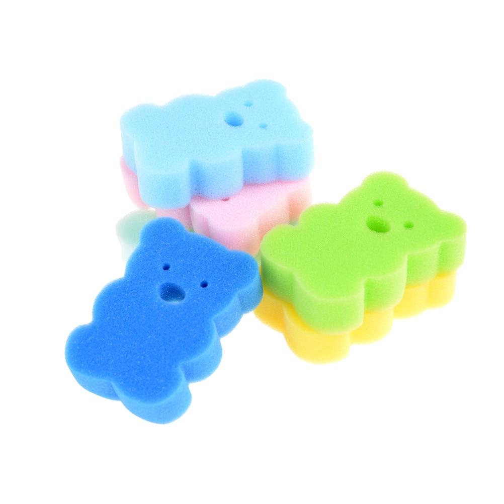 3PCS Random Rub Sponge Bath Brushes Baby Infant Shower Faucet Wash Child Brush Bath Brushes Sponges Cotton Rubbing Body