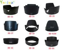 10 adet HB 32 HB 34 HB 35 HB 37 HB 39 HB N106 HB 45 HB 46 HB 69 kamera Lens Hood için nikon lens kamera