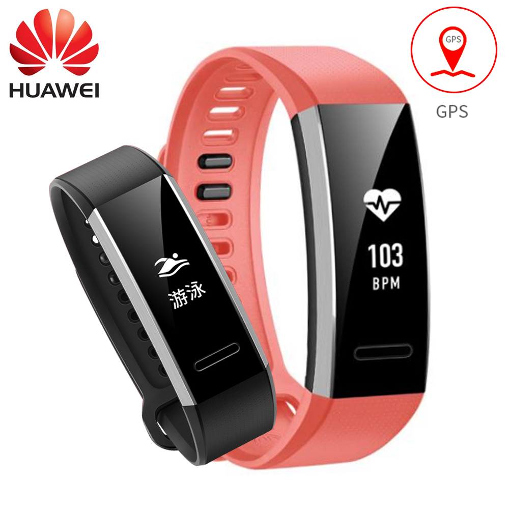 Huawei Sport Band 2 pro B29 B19 with GPS for Swimming Wristband with Heart Rate Monitoring Push message Waterproof Bluetooth original huawei band 2 pro b29 b19 smart wristband for monitor fitness 50m swim waterproof bluetooth oled sport band