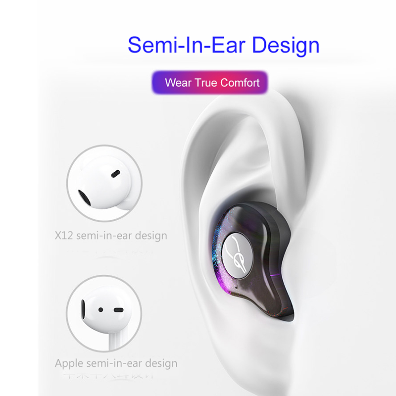 Image 5 - BANDE Mini Wireless BLuetooth Earphone Stereo In Ear Bluetooth  Earphone Headset For Ip7 8 Plus For Android-in Bluetooth Earphones & Headphones from Consumer Electronics