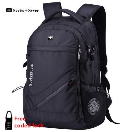 Svvisssvver marque femme hommes MP3 musique USB charge mode affaires décontracté touristique vol étanche 15.6 pouces sac à dos pour ordinateur portable