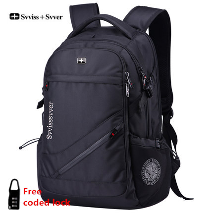 svvisssvver brand woman men MP3 music USB charging fashion business casual tourist theft waterproof 15.6 inch Laptop backpack