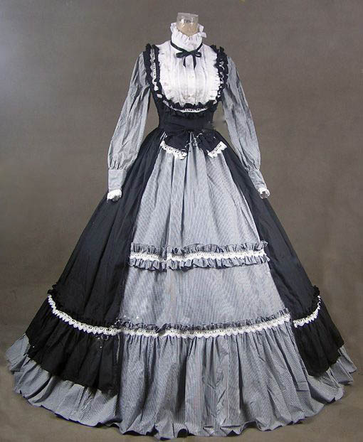 Victorian Gothic Dress Ball Gown Prom Steampunk Punk Dresses