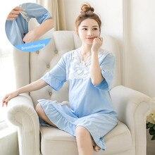 Большой размер, ночная рубашка для беременных и кормящих, летняя, для беременных женщин, юбка, пижамы для беременных, ночная рубашка для кормления грудью, платье, одежда для сна