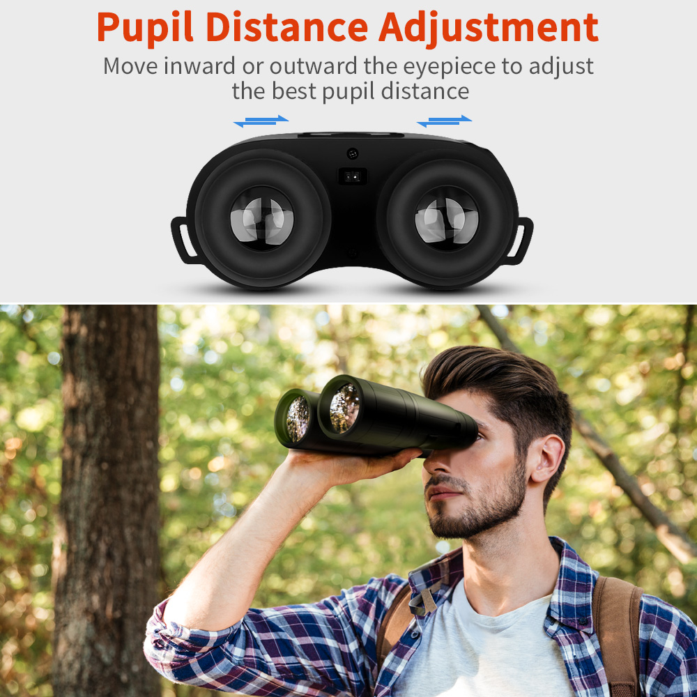 Image 5 - BOBLOV B8X 8x52mm Day Night Vision Binoculars HD Telescope Spotting Scope with Recording Function For Camping Hunting Outdoor-in Night Visions from Sports & Entertainment
