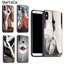 MaiYaCa Ballet Ballerina Dance Shoes Slipper Case for Xiaomi Mi 6 Plus 6X 8 8SE Mix2 Max3 Cover For Redmi 5 5Plus Note 4X 5 Pro(China)