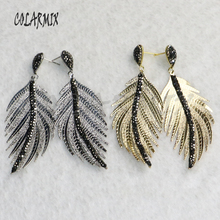 5 pairs long leaf earrings feather earrings starfish flowers leaves dangle earrings fashion jewelry vintage for women gift 9191