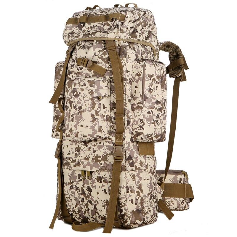 Открытый водонепроницаемый 80L военный рюкзак тактическая сумка спортивная походная дорожная сумка рюкзак охотничий рюкзак Военная Сумка - 4