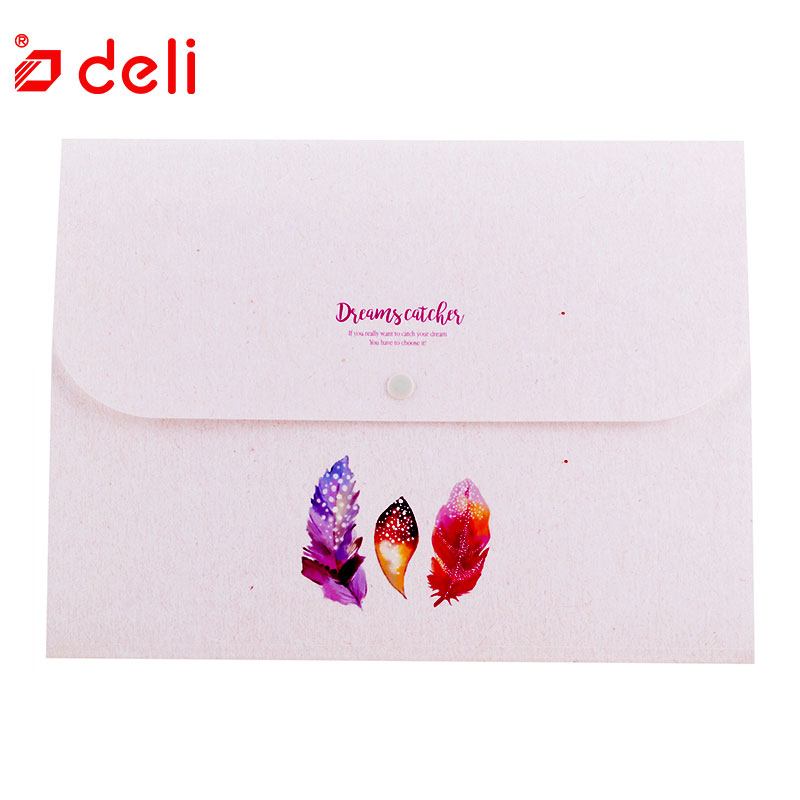 Deli New Waterproof Expanding Wallet for Business Man and Student Filing Document Storage Bags Stationery School Office Supplies
