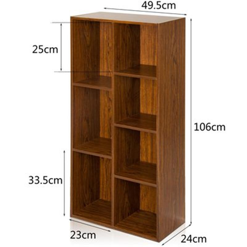 Home Cabinet Display Librero Madera Estanteria Para Libro Oficina Vintage  Wood Furniture Book Decoration Retro Bookshelf Case