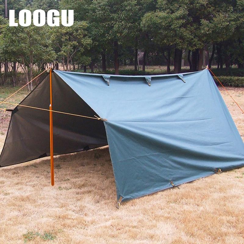 LOOGU 3.2x3M Silver Coating Anti UV Ultralight Sun Shelter Beach Tent Pergola Awning Canopy Oxford cloth Camping Mat loogu 9m x 10m 29 5ft x 33ft sea blue