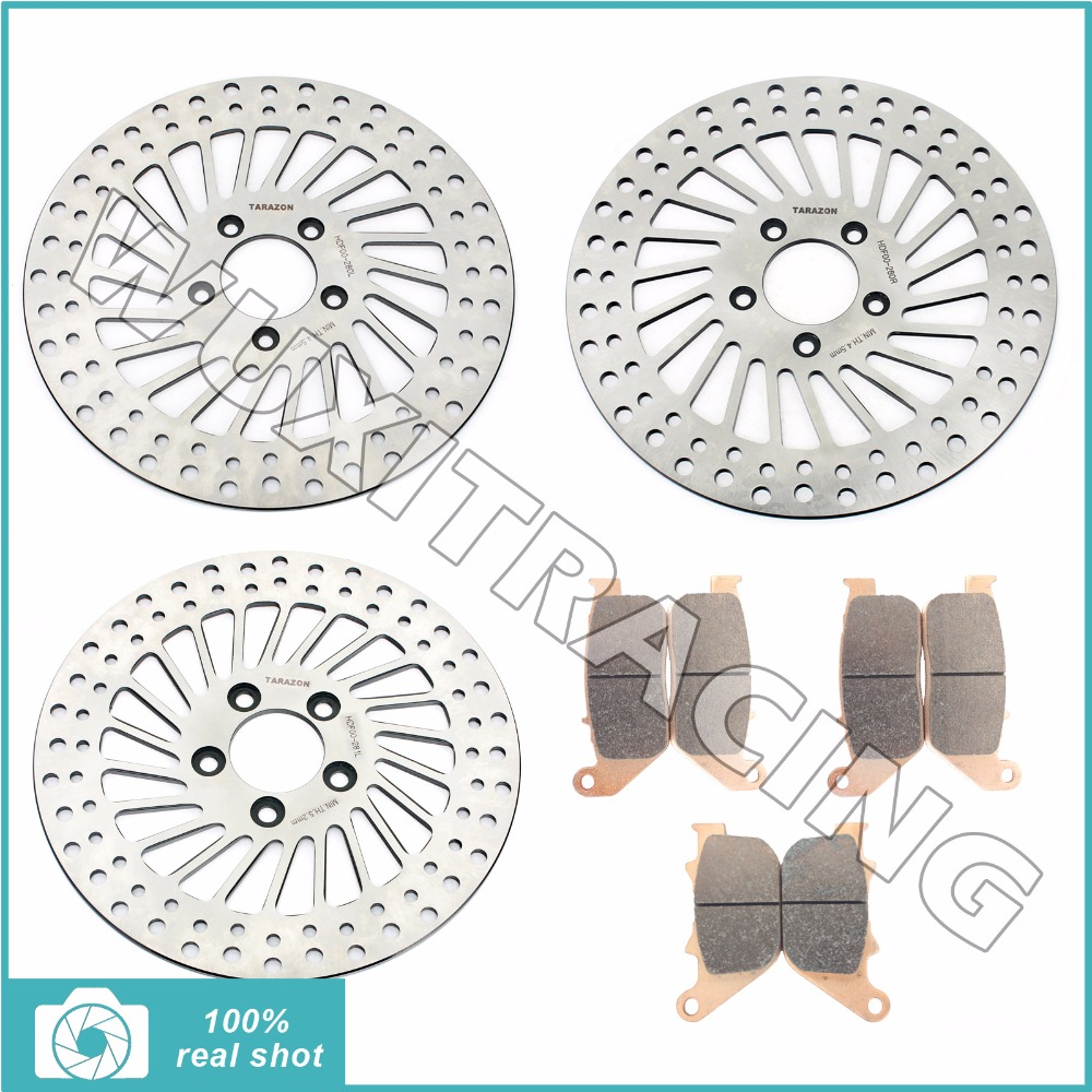 3 x 11.5 Front Rear Brake Discs Rotors + Pads for HARLEY Davidson Sportster 883 XL R XL2 05-10 06 1200 XL R Roadster XL2 04-08 aftermarket free shipping motorcycle parts brake clutch lever fit for harley davidson davidson xl sportster 883 1200 softail cd