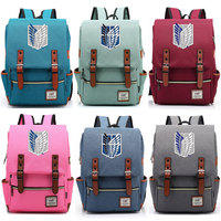 2019 New Anime Cartoon Attack on Titan Wings Boy Girl Student School bag Teenagers Schoolbags Canvas Women Bagpack Men Backpack