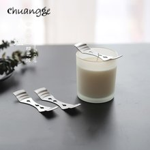 CHUANGGE-soporte para mechas, herramienta de fabricación de velas Suplies, mechas de Metal de alta calidad, Clip de fijación