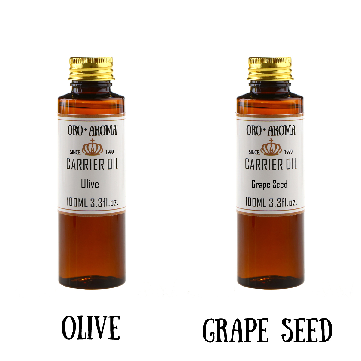 Famous brand oroaroma natural olive grape seed essential oil natural aromatherapy high-capacity skin body care massage 100ml*2 handmade soap raw material natural grapeseed essential oil organic cold pressure grape seed aromatherapy moisturizing 1000ml
