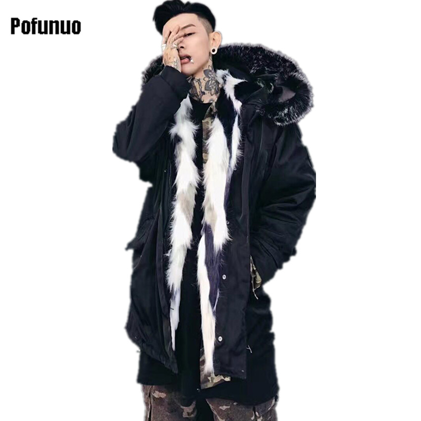 2017 Winter Duck Down Jacket Men Coat Parkas Male Jacket Thickened Warm Mountain Fox Fur Collar Carved Tide Lovers Padded