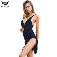 2016 New Arrival Plus Size Swimwear One Piece Swimsuit Holiday Bathing Suit Swim Wear Swimdress Black