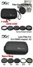 PGY DJI inspire 1 / DJI OSMO / DJI Phantom 4 3 Camera filter MCUV / ND4 / ND8 / ND16 / CPL filter / case bag Camera accessories