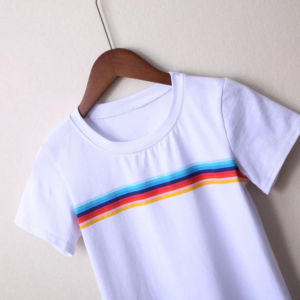 HTB1rfASPVXXXXc5XVXXq6xXFXXXT - Rainbow Stripes Crop T-shirt PTC 141