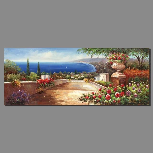 Retro Europa Stil Seaside Mediterrane Landschaft Für Wohnzimmer Dekoration  Leinwand Malerei Wandbilder Home Decor Unframed