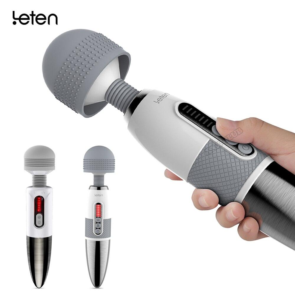 Leten Powerful AV Stick Vibrator Sex Toys For Woman Clitoris, Big Head Magic Wand, Rechargeable Female Masturbation Massager