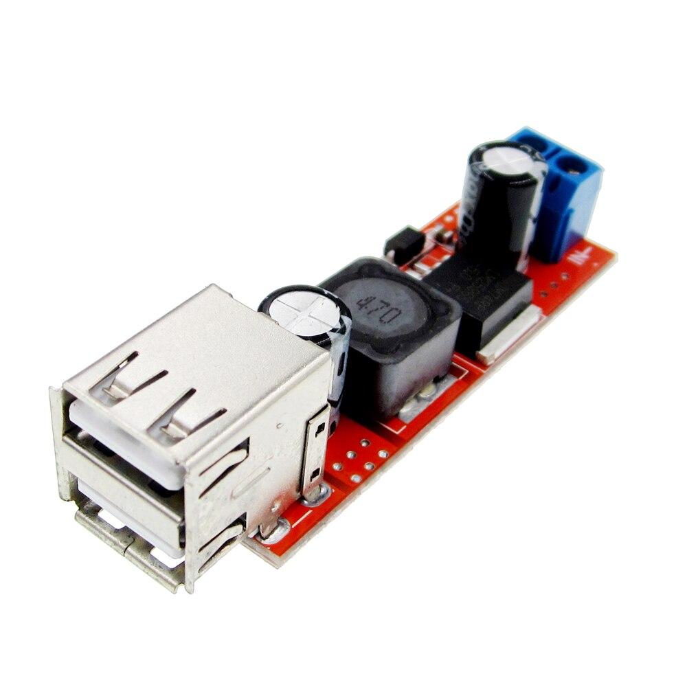5 шт./лот 5 в двойной USB выходной преобразователь DC 6 в-40 в до 5 В 3A понижающий модуль BuckLM2596S KIS3R33S