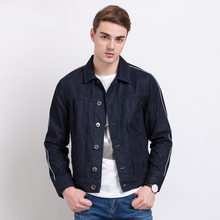 Denim Jacket Men Jeans Jacket For Men Turndown Collar 100% Cotton Outerwear Jean Jacket Men Retro Jacket Men