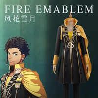 Benutzerdefinierte Unisex Fire Emblem: drei Häuser Claude von Regan Phantasie Schlacht Bühne Mädchen Jungen Cosplay Kostüm Top + Shirt + Hosen + Mantel