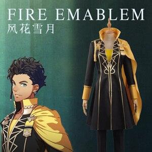 Image 3 - Fogo emblema jogo: três casas claude von regan fantasia batalha meninos cosplay traje adulto uniforme camisa superior calças manto