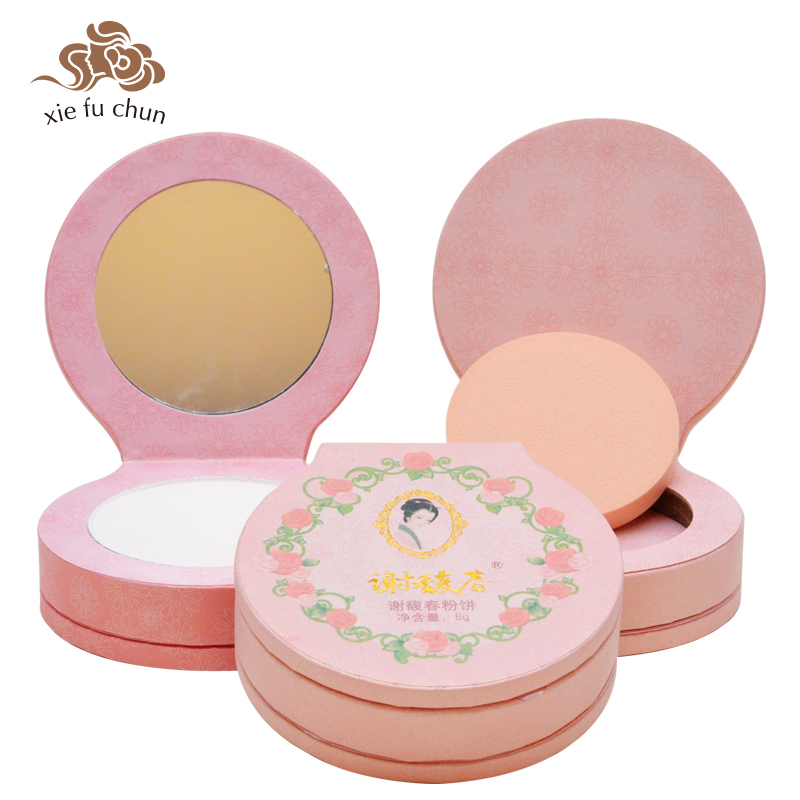 Xiefuchun Chinese Traditional Formula Three-in-one Pressed Powder Conditioner  Makeup Palette Foundation Powder Cosmetic XFC16 formula one