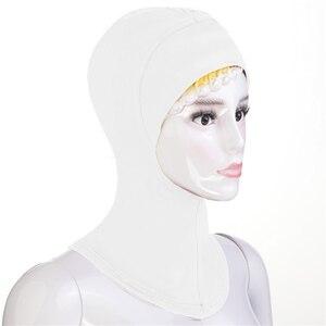 Image 4 - 12PCS New Under Hat Cap Bone Bonnet Ninja Inner Hijabs Women Muslim Islamic Wrap Headscarf Neck Full Cover Scarf Random Color