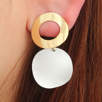 Earrings Female 2019 New Fashion Women Retro Contrast Simple Geometric Bump Round Circle Stud Earrings Accessories z0401 circle