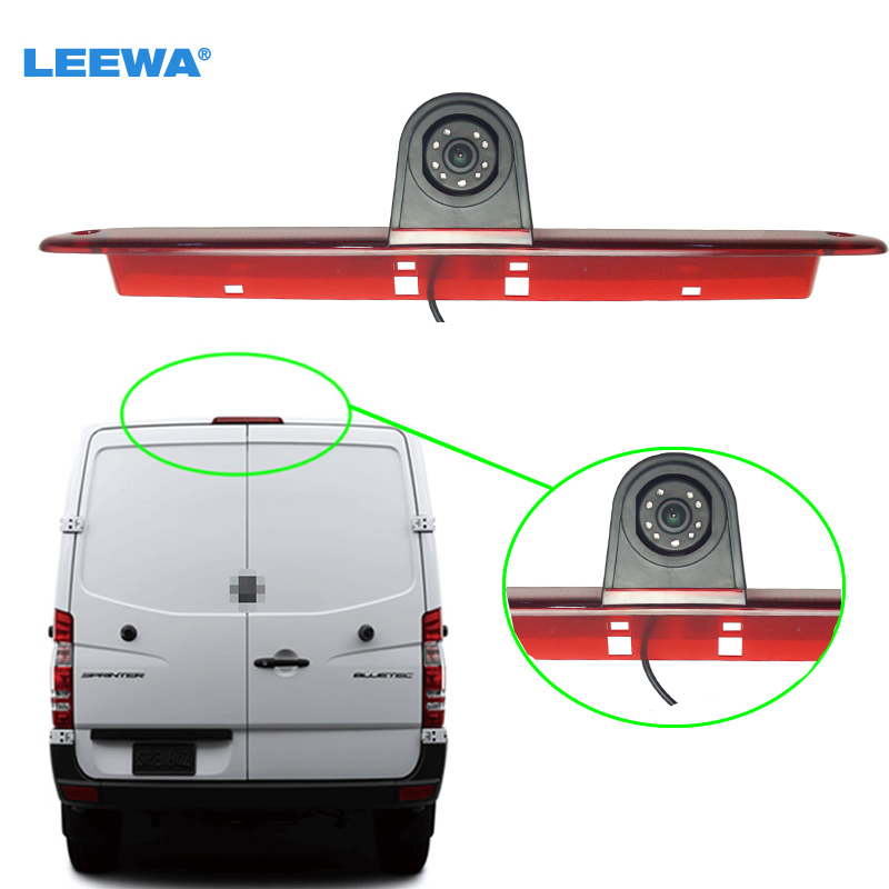 LEEWA feu de stop LED de voiture IR caméra de recul/Parking pour Mercedes Sprinter/Volkswagen Crafter 2007-2015 # CA5374A