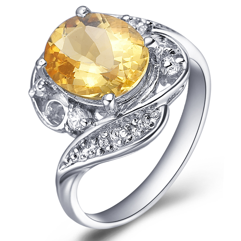 Natural Citrine Ring 925 Sterling Silver Yellow Crystal Woman Fashion Fine Elegant Jewelry Queen Lux Birthstone Gift sr0192c все цены