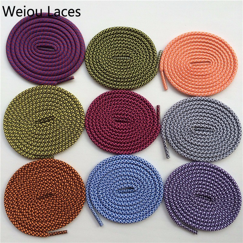 (30Pairs/Lot)Weiou Multicolour Shoelace Regular Two Toned Rope Laces Casusal Sneakers Walking Bootlace Bright Colors Accessories pz0 5 16 0 5 16mm2 crimping tool bootlace ferrule crimper and 1k 12 awg en4012 bare bootlace wire ferrules