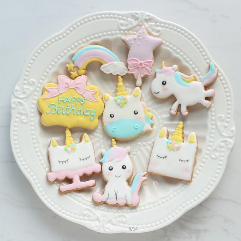 8pcs//set Easter Egg Shape Cookie Stencil Cake Cupcake Decorating Plastic Mould-C
