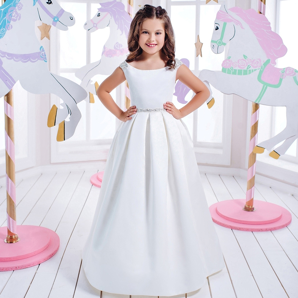 First Communion Dresses for Girls Hollow Out Court Train O-neck Beading Sleeveless Ball Gown Kids Evening Gowns Vestido Daminha o reilly:head first php