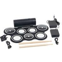 Musikinstrumente Elektronische Tragbare Drum Pad Digital USB Soft-tastatur mit Stick Drumstick Fußpedal Usb-kabel