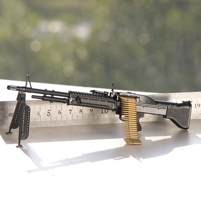 1 6 scale miniature m60 machine gun weapon model for military 12